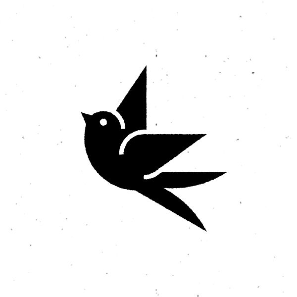 Vintage swallow icon design by Sascha Elmers #icon #icondesign #icons #iconic #iconography #picto #rough #vintage #bird #animal #swallow #filled #texture #grunge