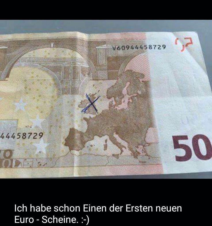 Neue Euro-Scheine nach dem Brexit...