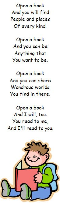 Inspiring! Print off, laminate and make these bookmarks, each with a poem about reading or books