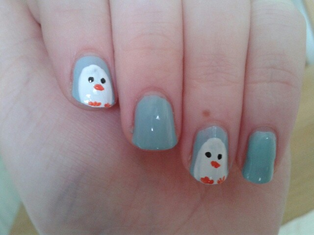 Essence nail varnish. Penguins :)