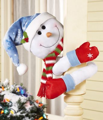 Lovable Snowman Hugger with Poseable Arms from collectionsetc.com #CatalogsBigRedBow