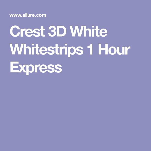 Crest 3D White Whitestrips 1 Hour Express
