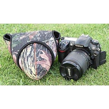 pajiatu® neopren triangel dslr kamera skyddsfodral väska hylsa för olympus sony canon nikon kamouflage storlek l - SEK Kr. 159