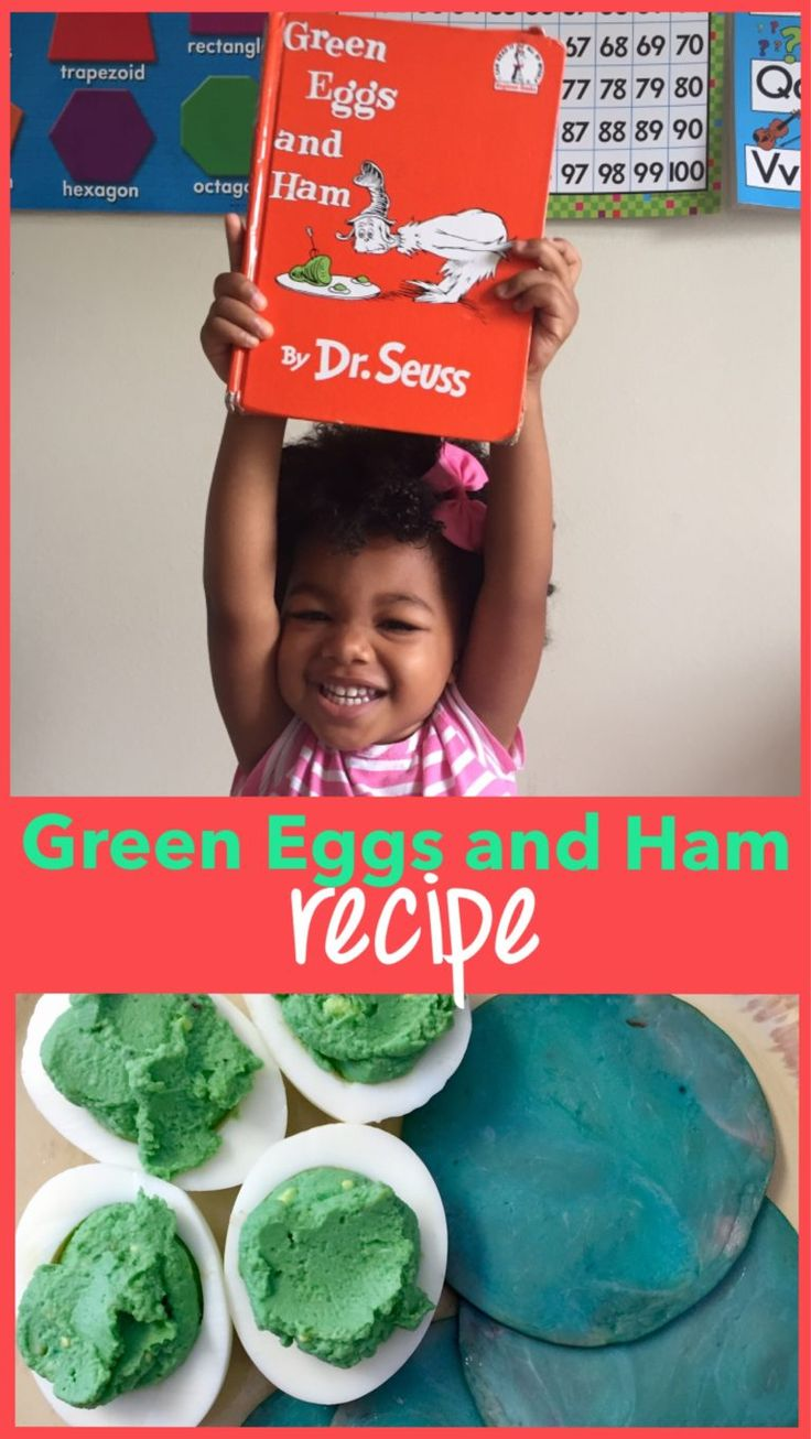 Green Eggs and Ham recipe, Dr. Seuss birthday, Read Across America, green eggs and ham activities