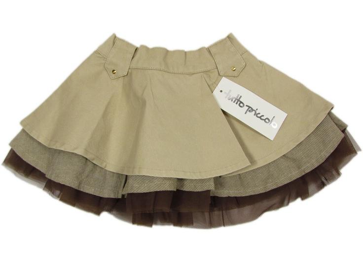 "TUTTO PICCOLO ""Little Cowboy"" girls skirt retro baby (brown/beige)"