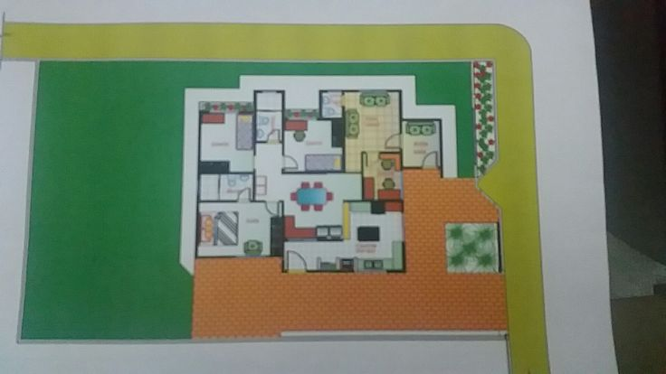 Planta Baixa casa térrea.  Projeto de arquiteto Michael Sabat. Manaus AM Brasil.