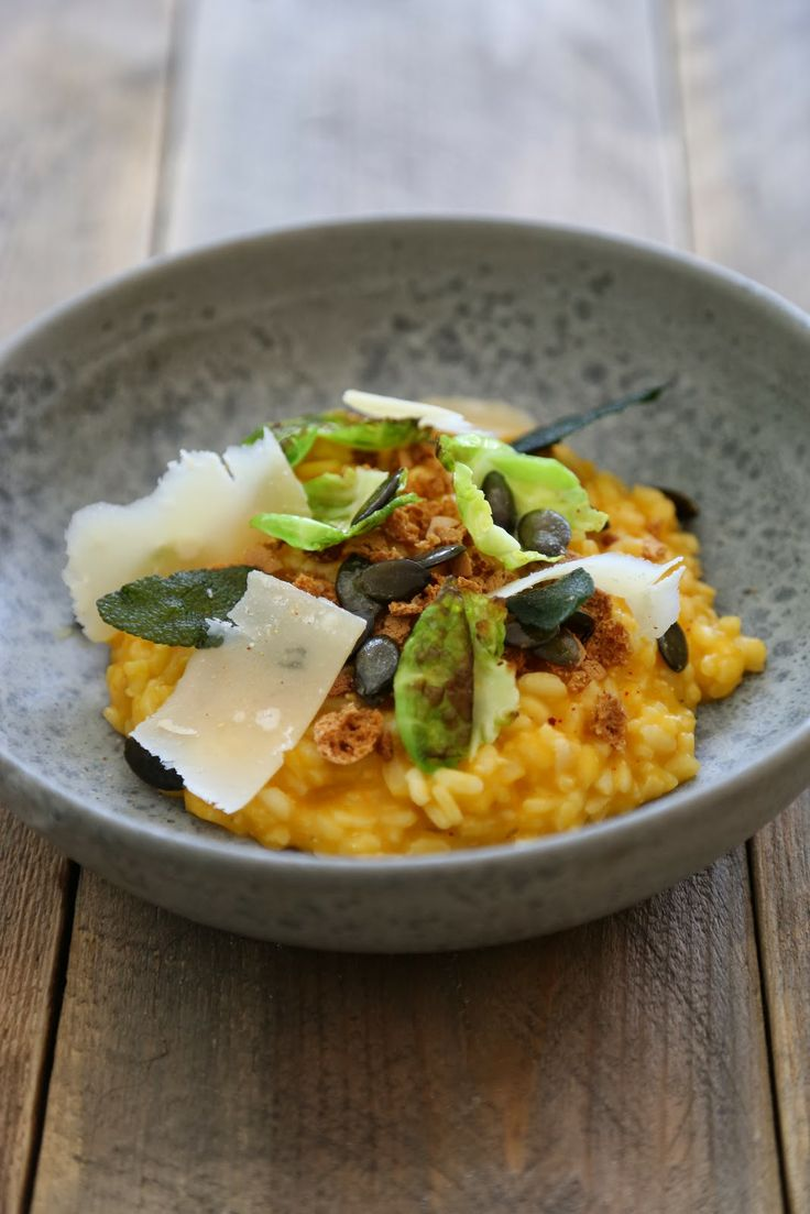"On dine chez Nanou | ""The Risotto"" , recette de Frenchie , à la courge butternut et biscuits amaretti , 