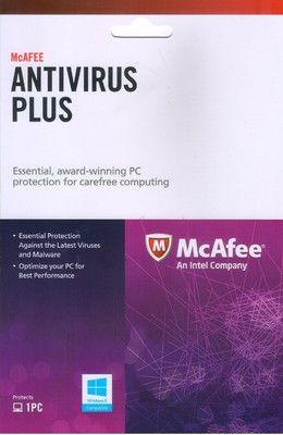 HOT OFFER Affordable Anti-Virus McAfee For Rs.85/- 1Year-1PC.