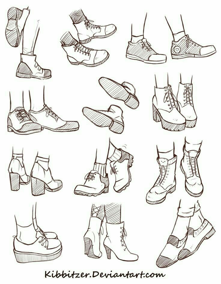Shoes; How To Draw Manga/Anime | Manga Anime And Drawings