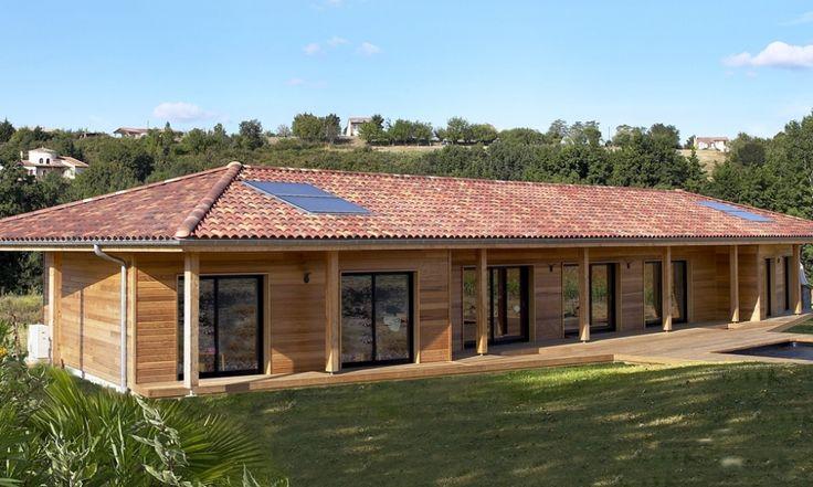 R alisations maison ossature bois tradition construction bois prefab houses builders for Prefab maison