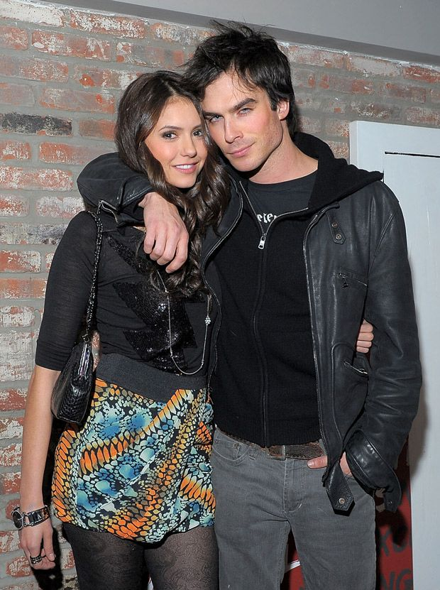 Nina Dobrev and Ian Somerhalder at the NYLON Cover Party in January 2010 - Photo