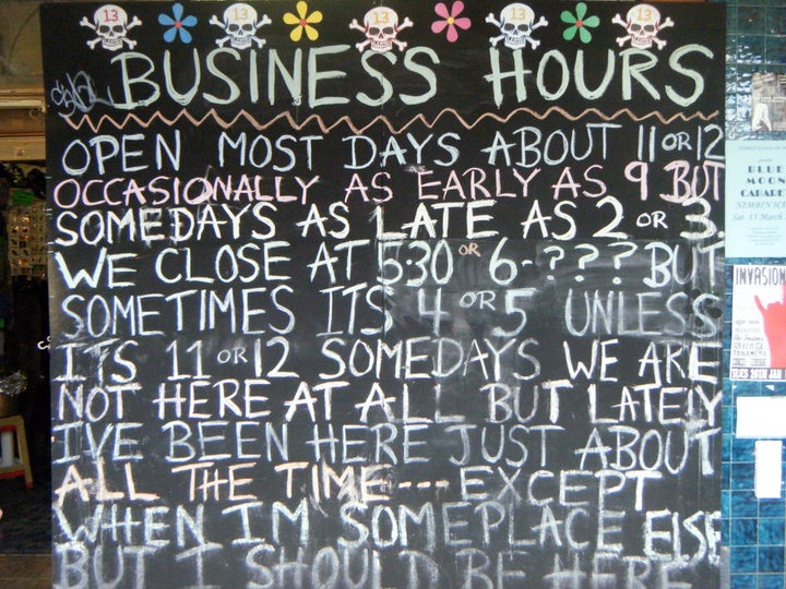 A sign at a shop in Nimbin, Australia - ultimate hippie town :-)