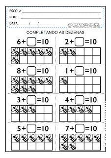 HISTÓRIAS MATEMÁTICAS, DEZENAS PARA COMPLETAR E MATERIAL DOURADO - 1º ANO ~ Alfabetizar com AMOR