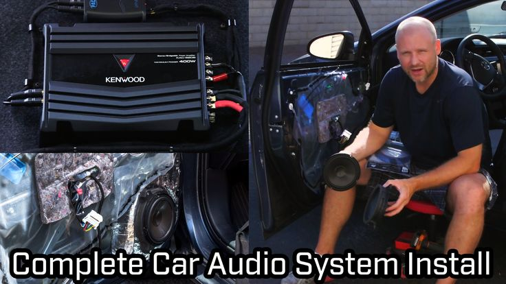 Full Car Audio System Installation - Kenwood - Speakers, Subwoofer and A...