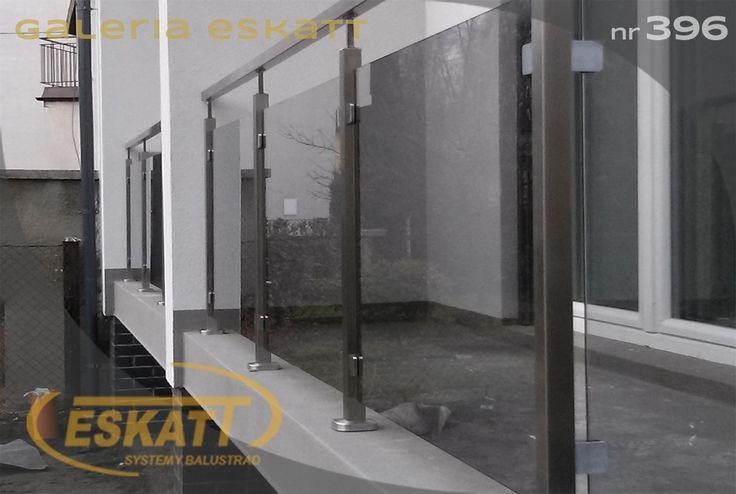 Stainless steel glass balustrade with clamps #balustrade #eskatt #construction #balcony
