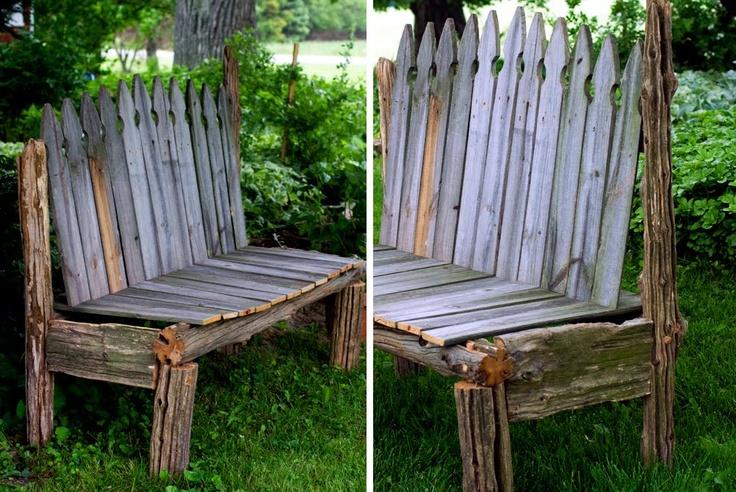 Reclaimed Wood Rustic Garden Bench Crafts Pinterest