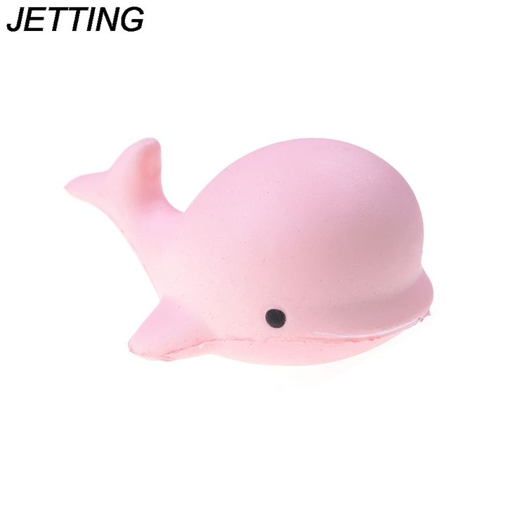 JETTING 10CM Squeeze Jumbo Squishy Kawaii Cute Dolphin Animal Phone Straps Squishies Slow Rising Scented Bread Cake Kid Toy Gift