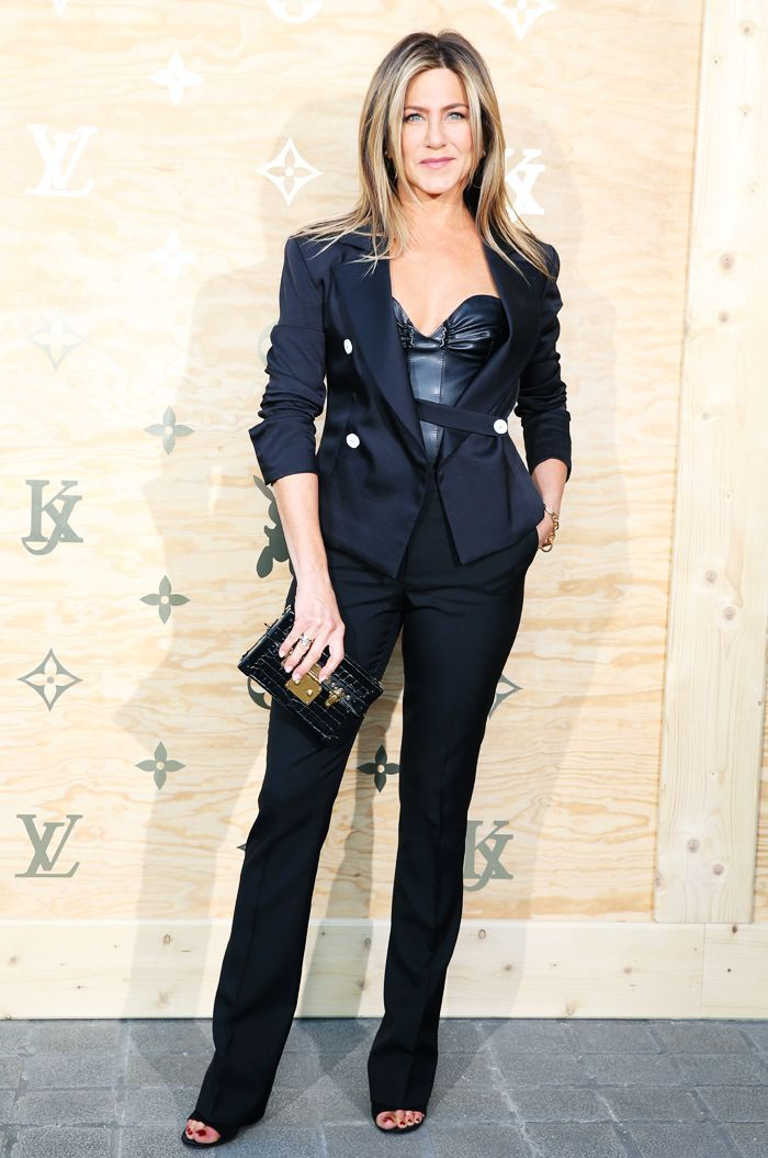 Jennifer Aniston just wore the perfect evening outfit at a Louis Vuitton party in Paris. Shop her look here.
