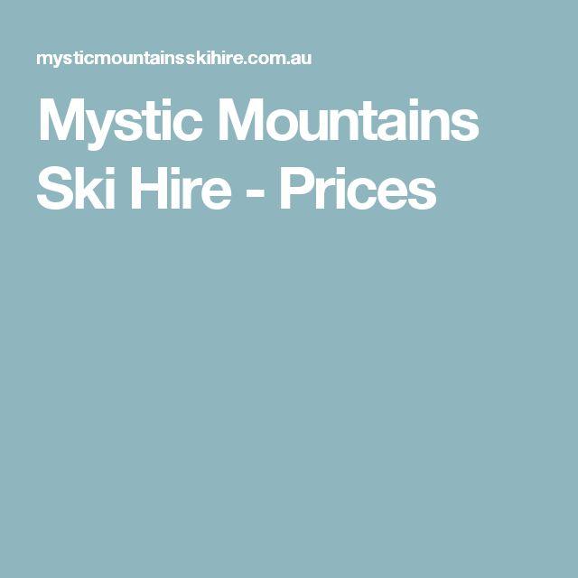 Mystic Mountains Ski Hire - Prices