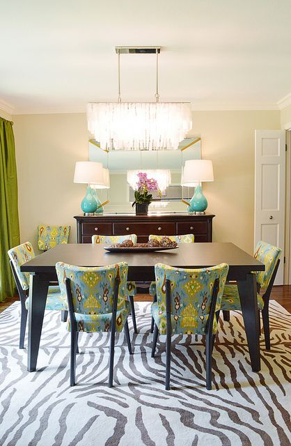 Love This Dining Room Rug Fabric Chandelier