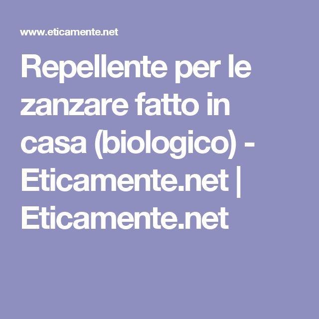Repellente per le zanzare fatto in casa (biologico) - Eticamente.net | Eticamente.net