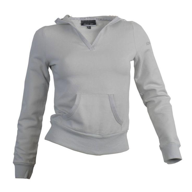 Reebok Gray Brand Women Skin Style Hooded Hoodie Size M Girl Style Fashion  #Reebok #Hoodie