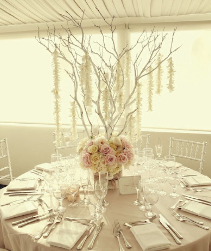 Best tree branch centerpiece images on pinterest