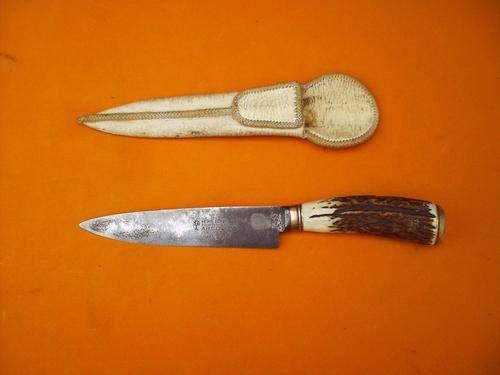 Cuchillo argentino con mango de asta de ciervo