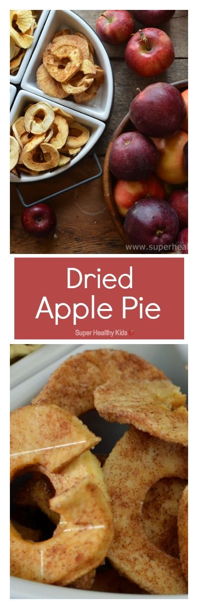 Dried Apple Pie! You must try these dried apples- My kids think they taste like candy! MMMM... http://www.superhealthykids.com/dried-apple-pie/