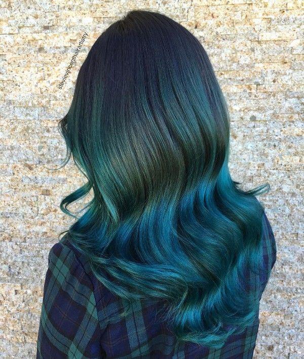 blue and black hair color ideas