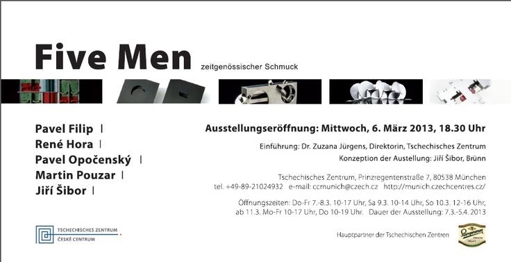 """during SCHMUCK : """"Five Men"""" – Zeitgenössischer Schmuck Tschechisches Zentrum - - X"""