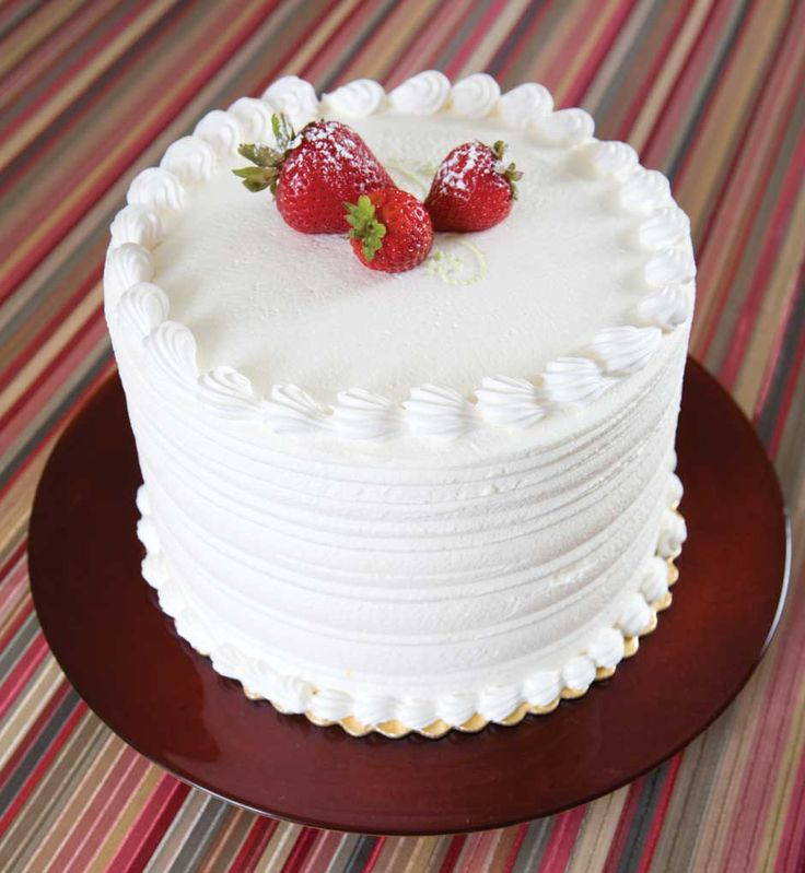 Fruit Basket Cake A three-layer white cake with pineapple ...