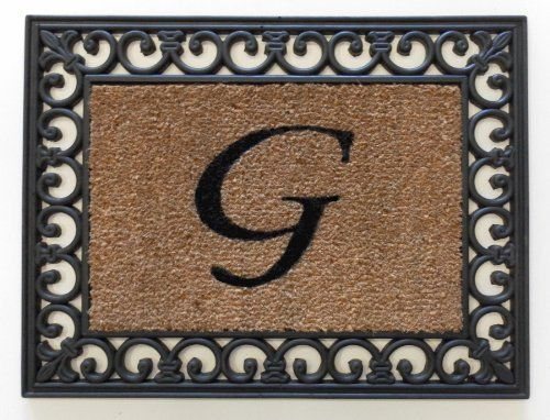 "19""x25"" Monogrammed Insert Doormat LETTER ""G"" ONLY by Momentum Mats. $16.99. In Stock-Ships in 1-2 days. Makes a Great Gift - Free Gift Enclosure. Hoses clean. Reassuring, non-slip rubber that won't crack or buckle. Resists fading, mold and mildew. Momentum Mats has been a trusted manufacturer for 29 years and takes great pride in the fact that we use only 100% natural rubber in our doormats.  Additionally, our manufacturing facilities have the most advanced and cost effec..."