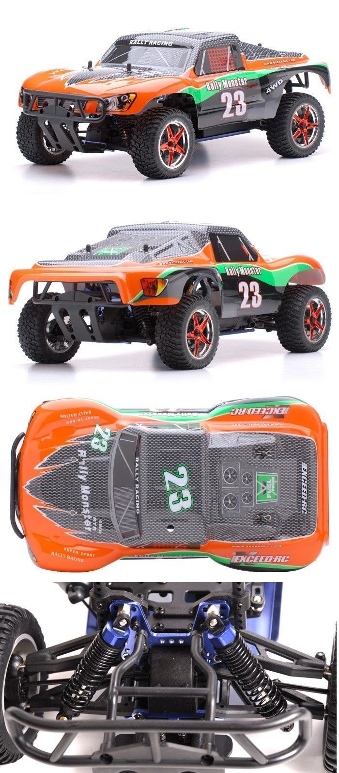 Cars trucks and motorcycles 182183 1 10 2 4ghz exceed rc rally monster nitro gas
