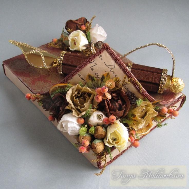 Gallery.ru / Фото #109 - Оформление конфетных коробок. Тортики из конфет. - boogi-woogi