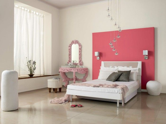 Pink Accent Wall colour design bedroom wall color of salmon pink accent wall | dorm