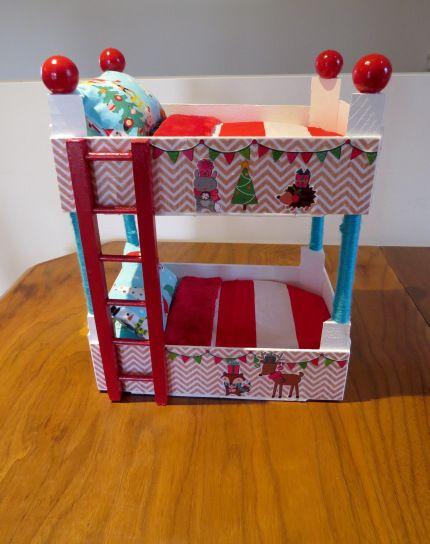 Elf on the Shelf Bunk Bed DIY Clementine Doll Bed (Lit Superposé pour Lutins) - Mon Petit Koala