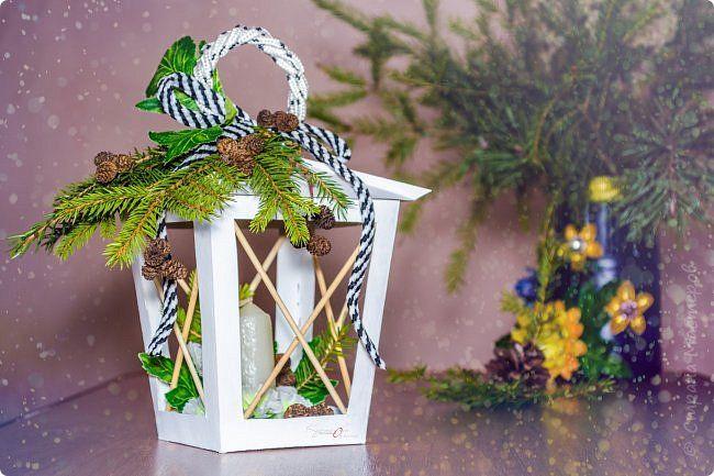 Поделка изделие Новый год Моделирование конструирование Мини МК Новогодний фонарик Картон Клей Материал природный фото 1