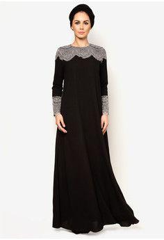 J Abaya Carina from Zalora fesyen terkini dgn potongan princess dari kain lycra yg sgt lembut dan mengikut alunan badan dgn harga yg amat berpatutan.