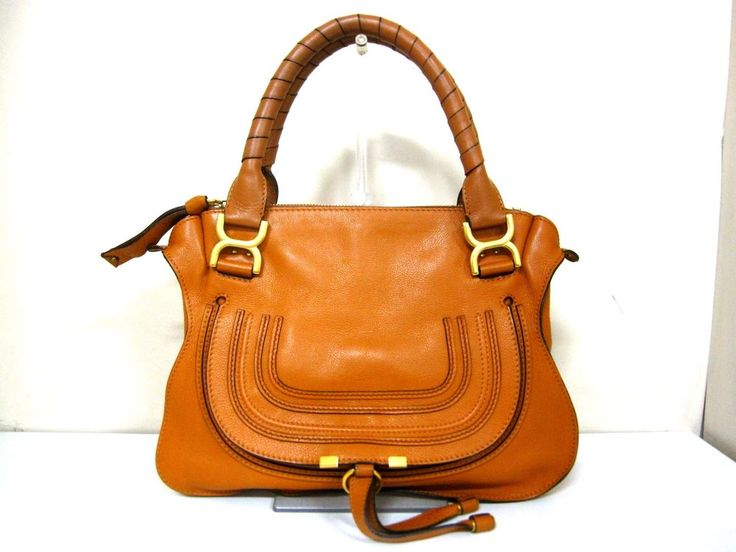 Authentic Chloe Brown Marcie Leather Handbag w/Shoulder Strap #Chlo #TotesShoppers