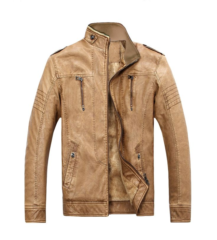 Mens Leather Jacket 2017 Stylish High Quality PU Jackets Men Casual Winter Plush Inner Coat Cheap Warm Faux Leather Jackets
