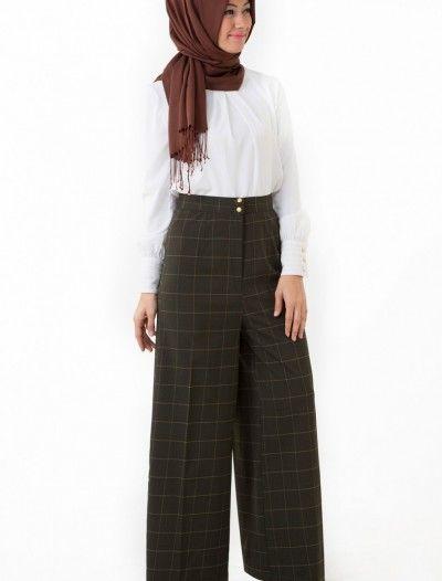 The Kendira Pantolon Etek P1995-15 Yeşil