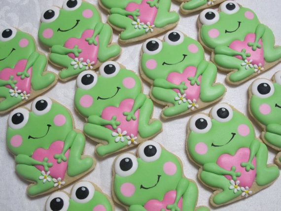 Lily Pad Love Sweetheart Frog With Heart Decorated Sugar Cookies