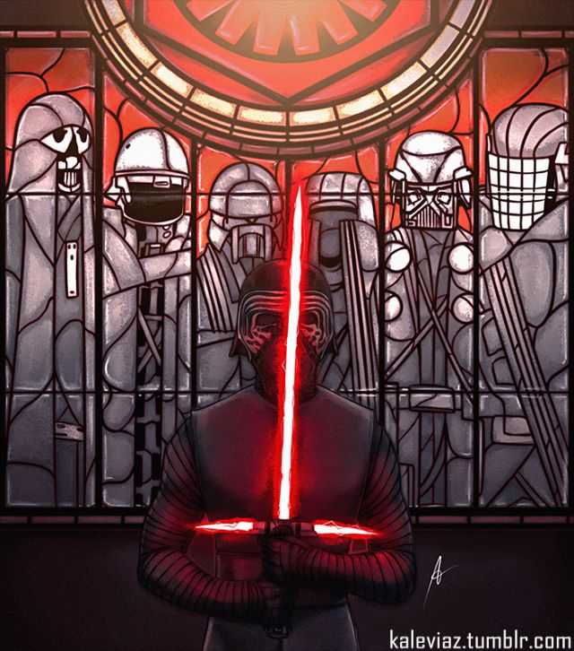 The Knights of Ren   cool fanart in stain glass