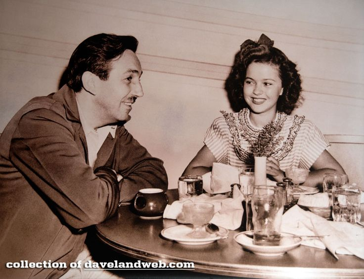 Walt Disney & Shirley Temple.  This Cute Photo (among many) Hangs In The Dining Room At Steakhouse 55 At The Disneyland Hotel, Anaheim, CA.