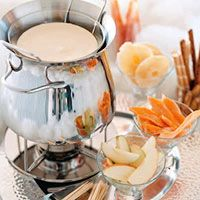 At an Oscars-themed party, all of the guests should be treated like superstars.  This fondue is a fun and fancy way to enjoy dessert while feeling like a star.  Also, great conversations start around fondue pots!