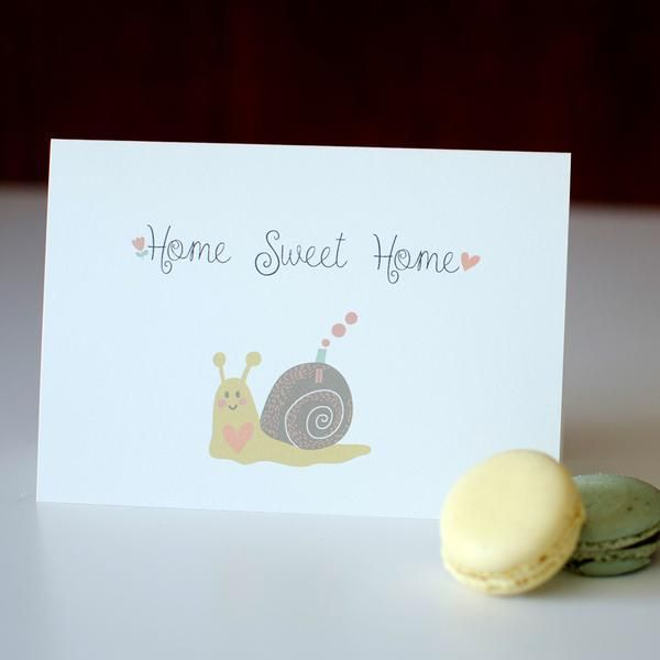 Home Sweet Home - new home card