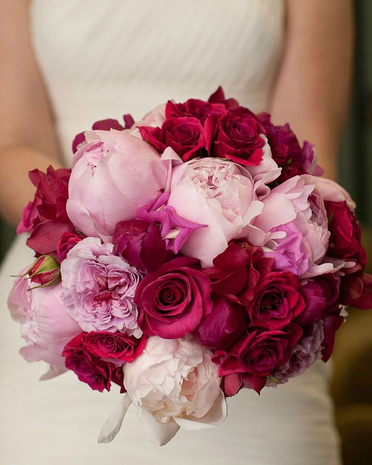 From blush pink to red, all the wonderful shades of spring inspired this bouquet.