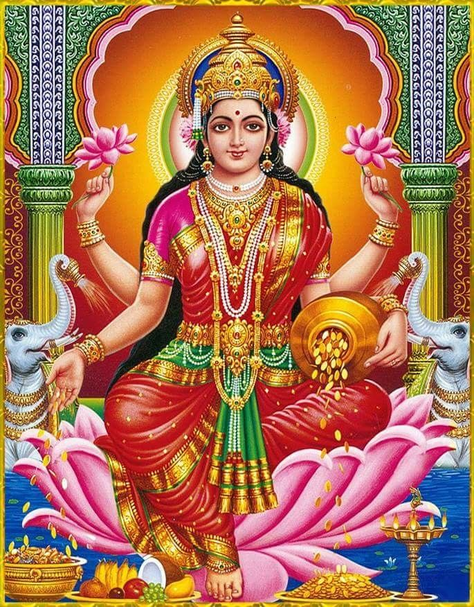 Does not Hindu goddess lakshmi devi happiness has