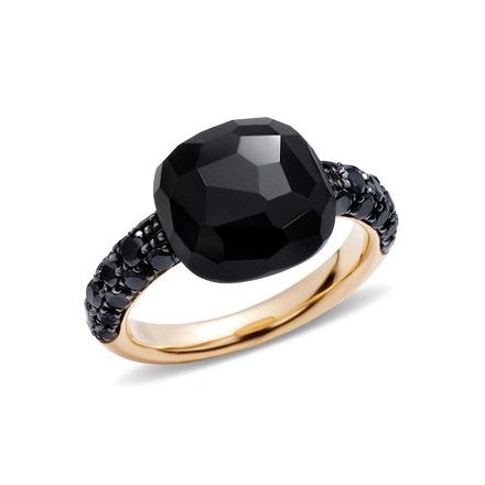 "Pomellato Black Onyx & Black Diamond ""Capri"" Ring"